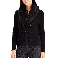 Women's Chaps Faux-Fur Toggle Cardigan
