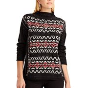 Women's Chaps Fairisle Mockneck Sweater