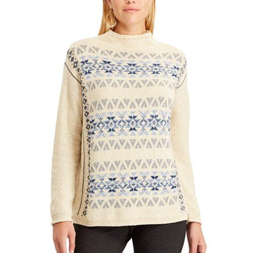 Women's Chaps Fairisle Mockneck Sweater