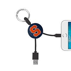 Syracuse Orange Keychain Portable Charging Lightning Cable