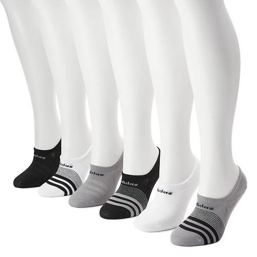 Women's adidas 6-pk. White Superlite Super No-Show Socks