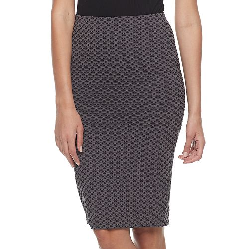 Women's Double Click Textured Midi Skirt