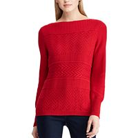Women's Chaps Textured Boatneck Sweater