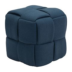 Zuo Modern Checks Upholstered Stool
