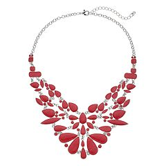 Red Enamel Statement Necklace