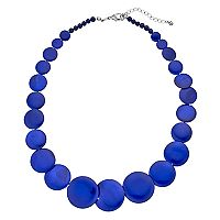 Blue Composite Shell Graduated Statement Necklace