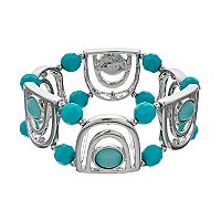 Aqua Beaded Stretch Bracelet