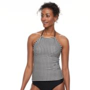 Women's Croft & Barrow® High-Neck Halterkini Top