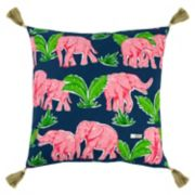 Rizzy Home Simply Southern Elephant Throw Pillow