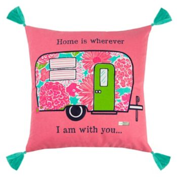"""Rizzy Home Simply Southern """"Home is Wherever"""" Camper Throw Pillow"""