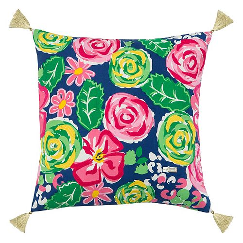 Rizzy Home Simply Southern Bold Floral Throw Pillow