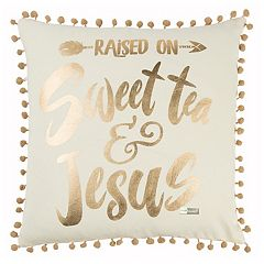Rizzy Home Simply Southern 'Raised on Sweet Tea' Throw Pillow