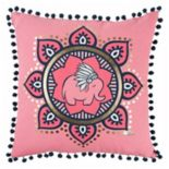 Rizzy Home Simply Southern Tribal Elephant Throw Pillow