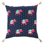 Rizzy Home Simply Southern Pink Elephant Throw Pillow