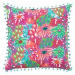 Rizzy Home Simply Southern Bright Floral I Throw Pillow
