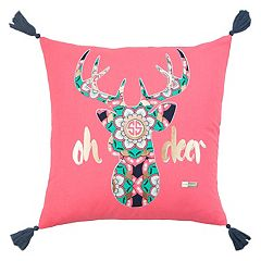 Rizzy Home Simply Southern 'Oh Deer' Throw Pillow