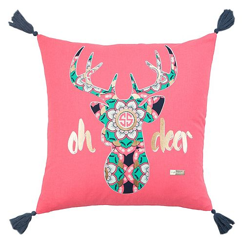 """Rizzy Home Simply Southern """"Oh Deer"""" Throw Pillow"""