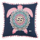 Rizzy Home Simply Southern Sea Turtle Throw Pillow