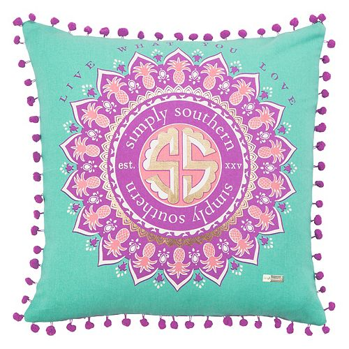 Rizzy Home Simply Southern Medallion Throw Pillow