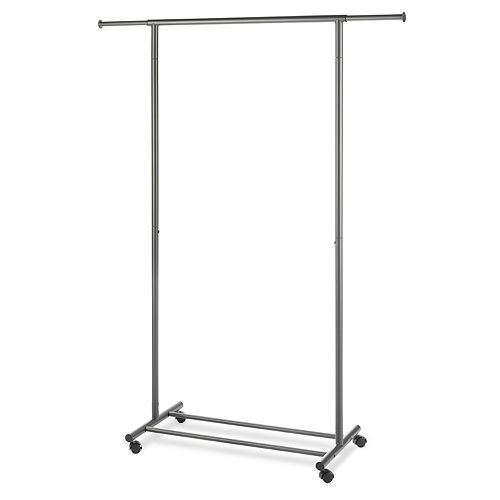 Whitmor Expandable Rolling Clothes Garment Rack