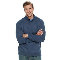 Big & Tall Croft & Barrow® Classic-Fit Easy-Care Fleece Mockneck Pullover