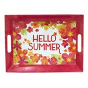 Celebrate Summer Together Floral Melamine Serving Tray