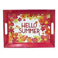 Celebrate Summer Together Floral Melamine Serving Tray
