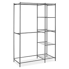 Whitmor Metal Double Rod & 5-Shelf Closet Organizer
