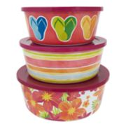 Celebrate Summer Together 3-pc. Floral Stacking Container Set
