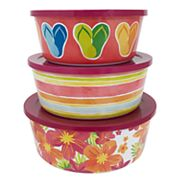 Celebrate Summer Together 3 pc Floral Stacking Container Set