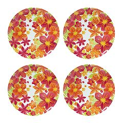 Celebrate Summer Together 4-pc. Floral Melamine Dinner Plate Set