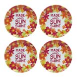 Celebrate Summer Together 4-pc. Floral Melamine Salad Plate Set