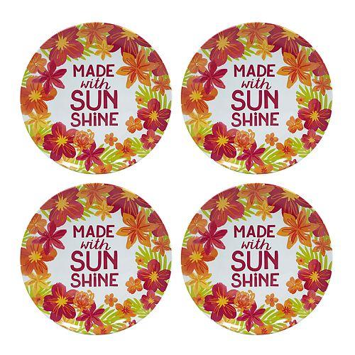 Celebrate Summer Together 4-pc. Floral Melamine Salad Plate Set