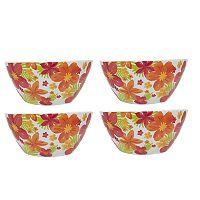 Celebrate Summer Together 4 pc Floral Melamine Cereal Bowl Set