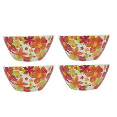 Celebrate Summer Together 4-pc. Floral Melamine Cereal Bowl Set