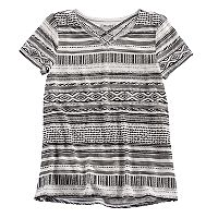 Girls 7-16 & Plus Size Mudd® Cage Front Tee