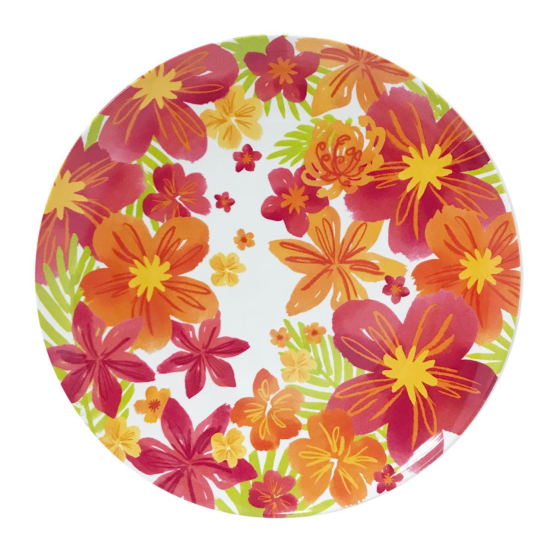 Celebrate Summer Together Floral Melamine Dinner Plate Sc 1 St Kohl\\u0027s  sc 1 st  pezcame.com & Kohls Corsica Plates \u0026 Corsica Home Rumba Salad/Dessert Plate Sc 1 ...