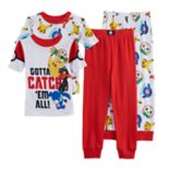 Boys 4-10 Pokemon 4 pc Pajama Set