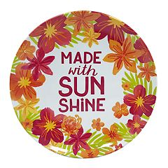 Celebrate Summer Together Floral Melamine Salad Plate