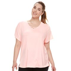 Plus Size Tek Gear® Criss Cross Tee