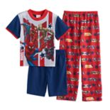 Boys 4-10 Marvel Comics Avengers 3-Piece Pajama Set