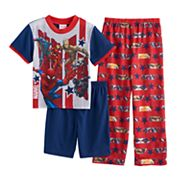 Boys 4-10 Marvel Comics Avengers 3 pc Pajama Set