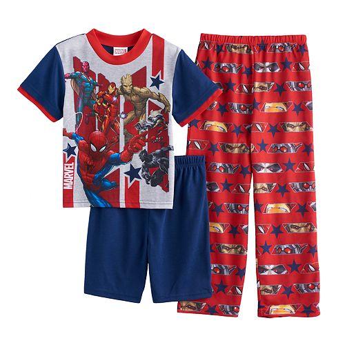 Boys 4-10 Marvel Comics Avengers 3-Piece Pajama Set