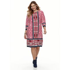 Plus Size Suite 7 Medallion Print Dress