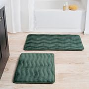 Portsmouth Home 2 pc Memory Foam Bath Mat Set