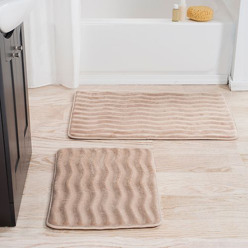 Portsmouth Home 2-piece Memory Foam Bath Mat Set