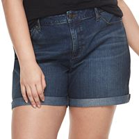 Plus Size SONOMA Goods for Life™ Cuffed Denim Shorts