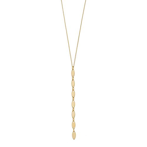 14k Gold Marquise Pendant Necklace