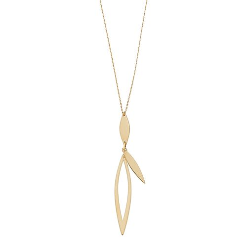 14k Gold Marquise Necklace