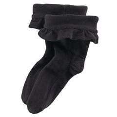 Girls 7-16 Ruffled Fleece Rainboot Liners